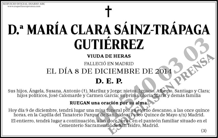 María Clara Sáinz-Trápaga Gutiérrez